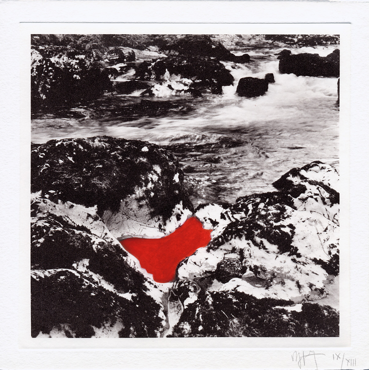 estampe Red Pool Andy Goldsworthy
