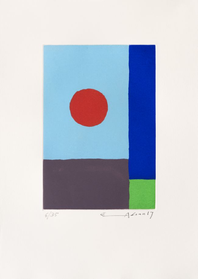 estampe Power of sun Etel Adnan