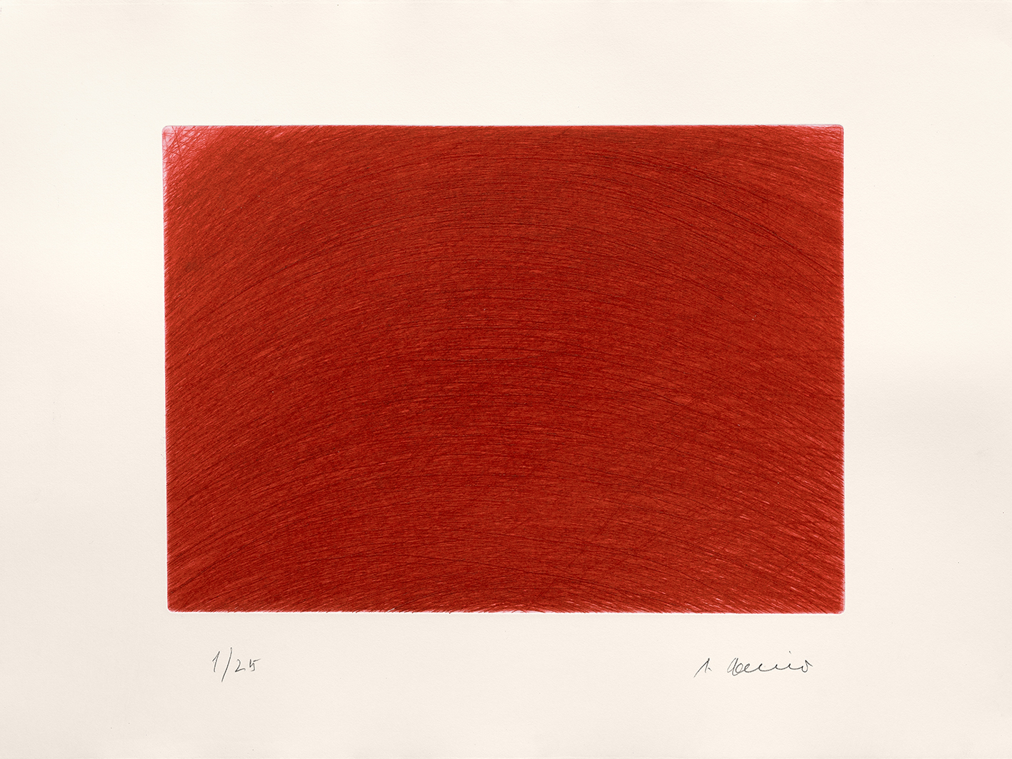 estampe Vague rouge Arnulf Rainer