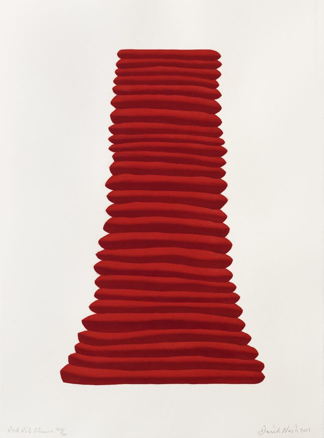 estampe Red Rib Column David Nash