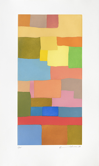 estampe Summer Etel Adnan