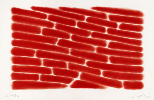 estampe Red wall David Nash