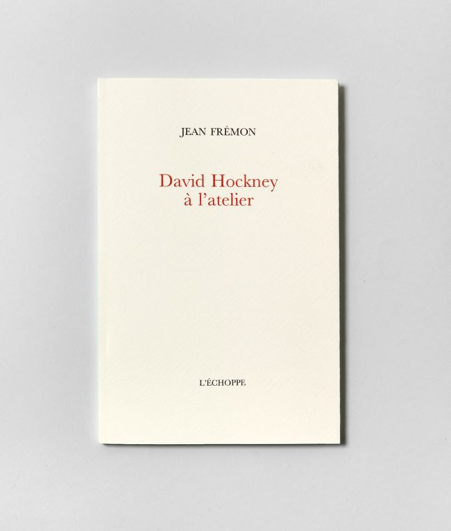livre David Hockney à l'atelier David Hockney