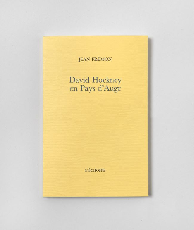 livre David Hockney en Pays d'Auge David Hockney