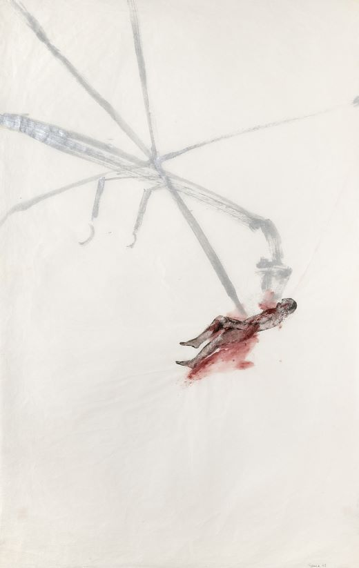 oeuvres Helicopter / Victim II Nancy Spero