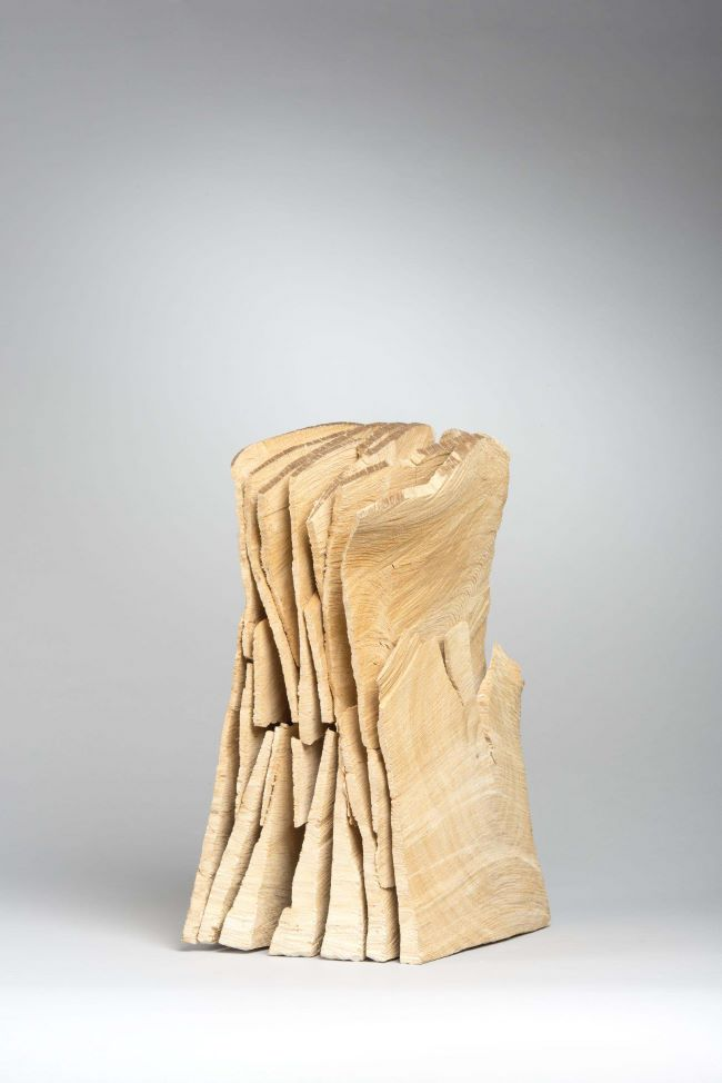 oeuvres Small Sliced Column David Nash