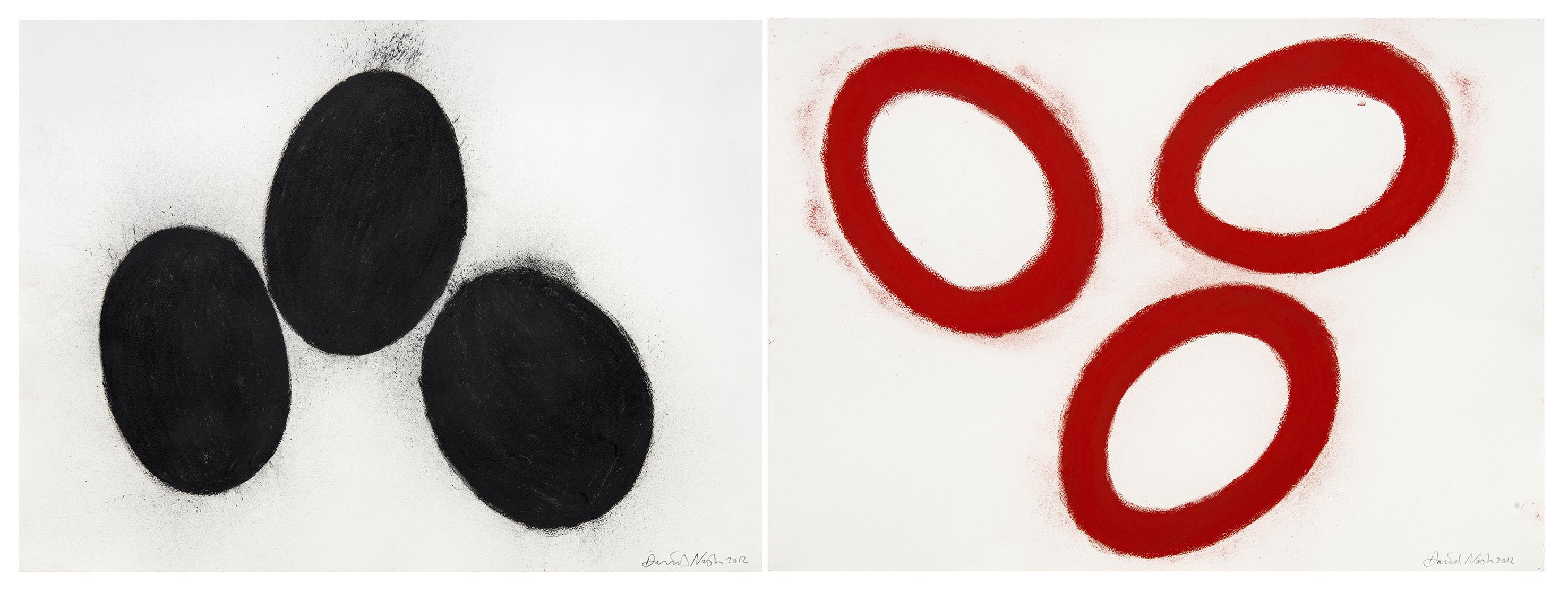 oeuvres Red and Black Cells David Nash