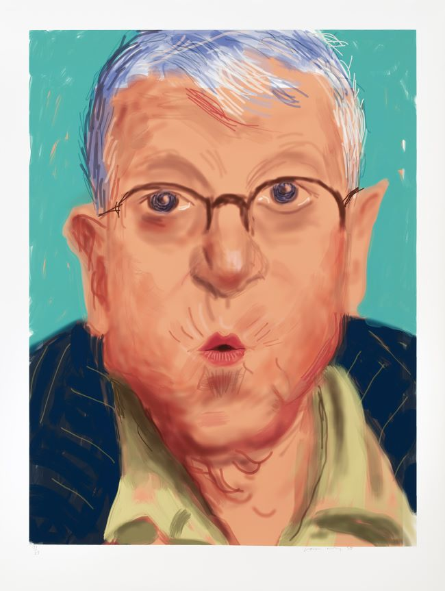 oeuvres Self Portrait IV, 25 March 2012 David Hockney