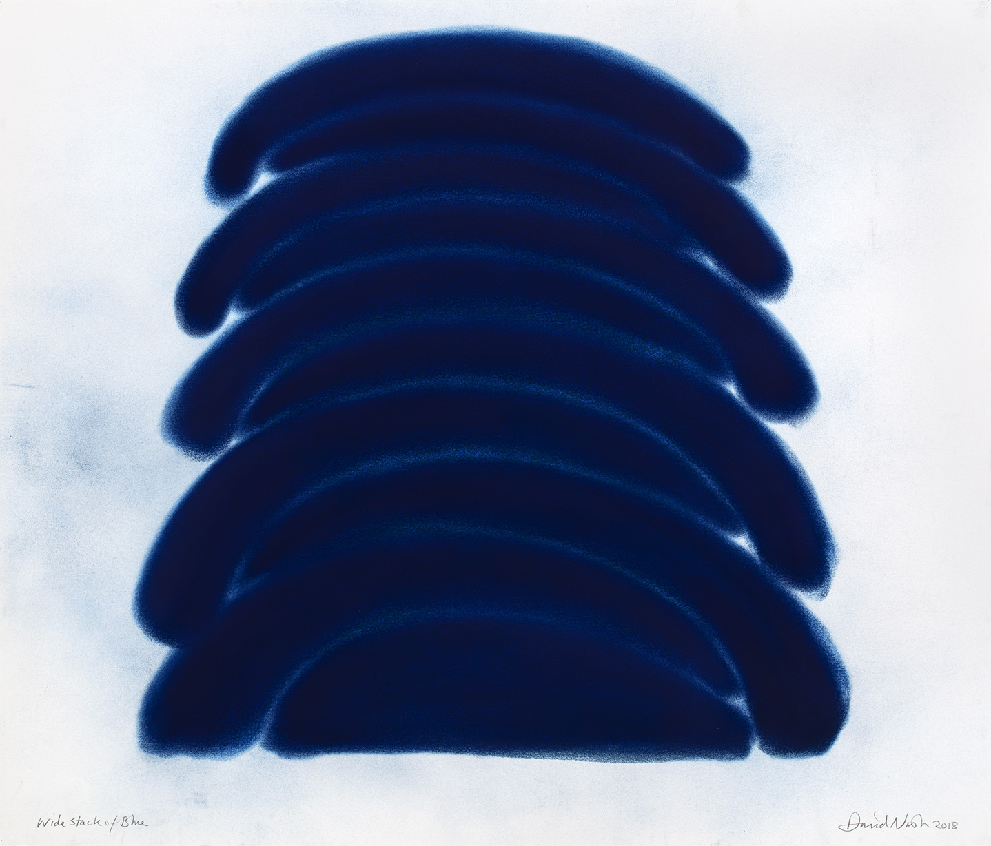 oeuvres Wide Stack of Blue David Nash
