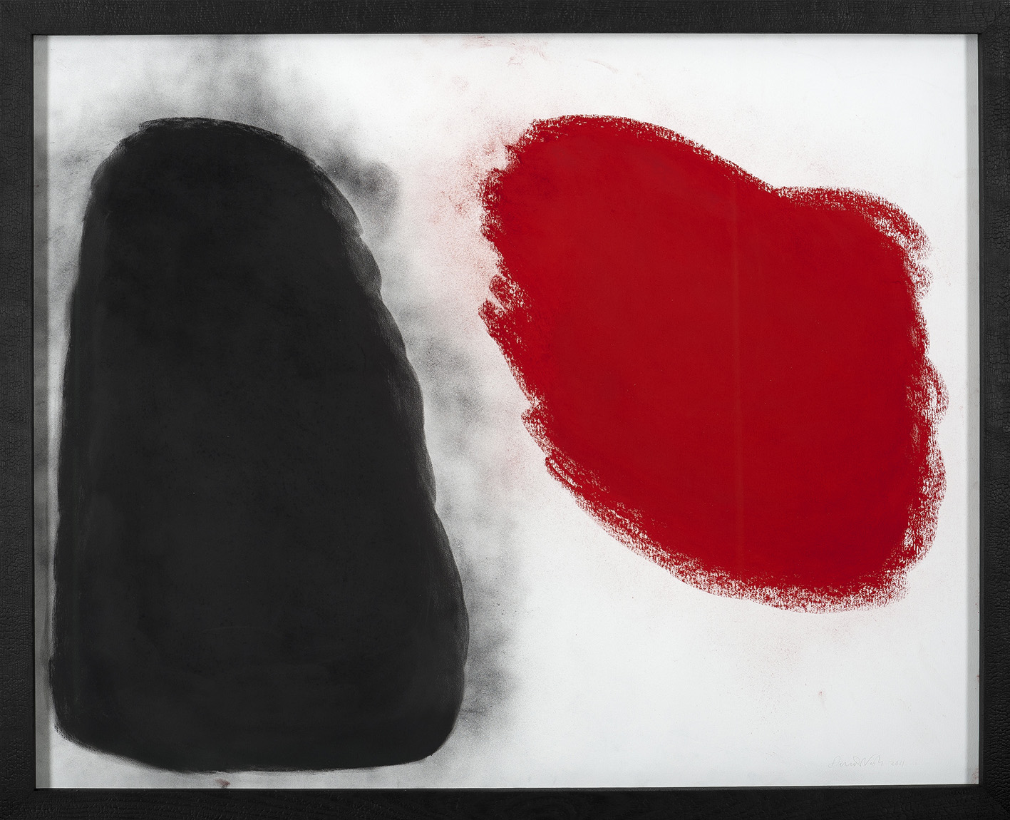 oeuvres Red looking at black David Nash