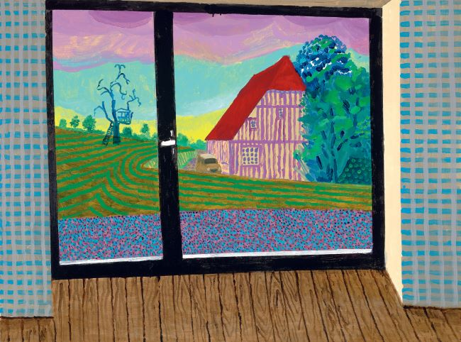 oeuvres View From The Studio At Dawn II David Hockney