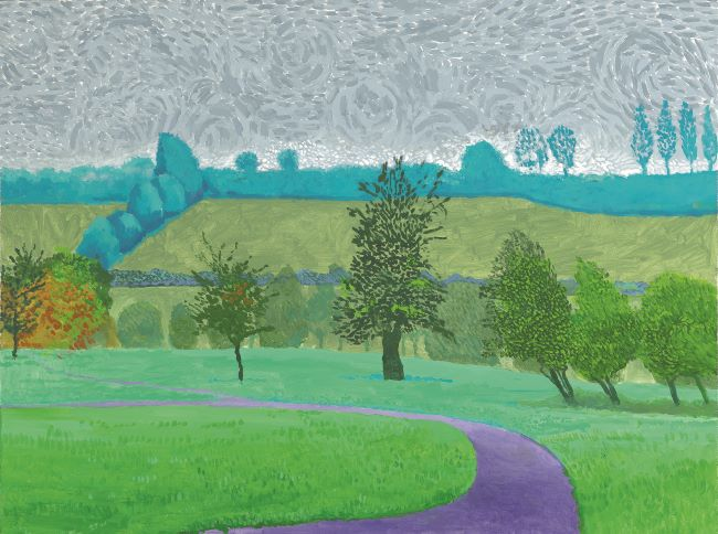 oeuvres Trees With Less Mist David Hockney
